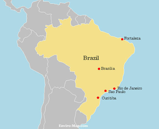 Here's a free map of Brazil. Please feel free to put it on your website or