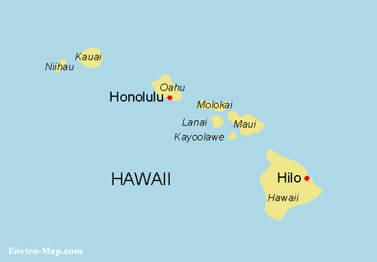 Free Map of Hawaii World Maps Enviro