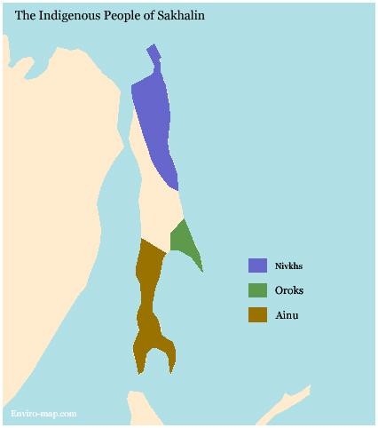 Sakhalin Tribes map
