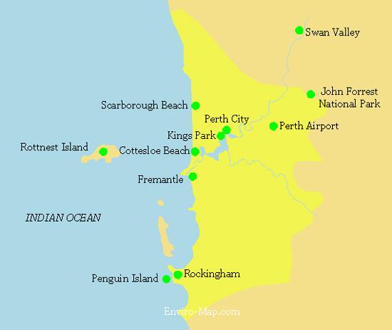 Western Australia Tourism Map Map Perth Western Australia