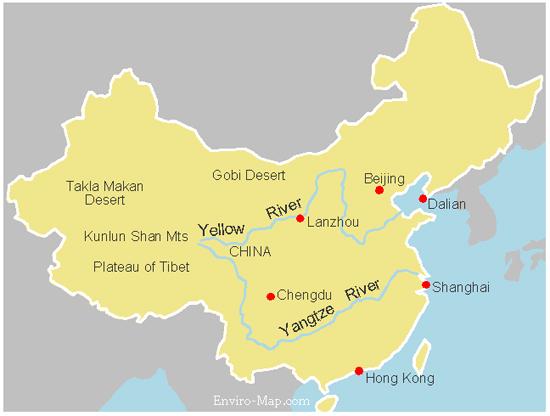 Yangtze River Location The yangtze river is the