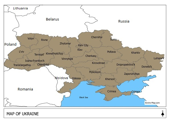 Free map of Ukraine