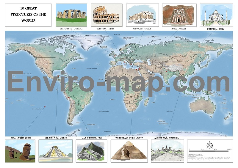 World heritage historical sites map