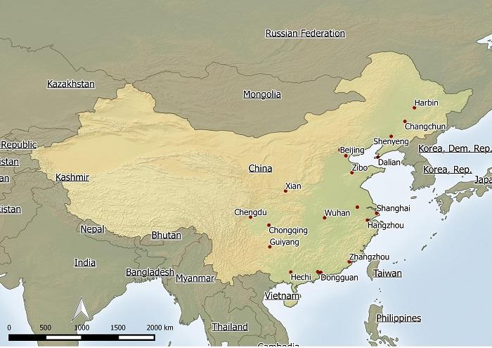Free China Map