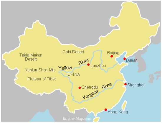 Yellow River Map World Map Yellow River Yellow River Map
