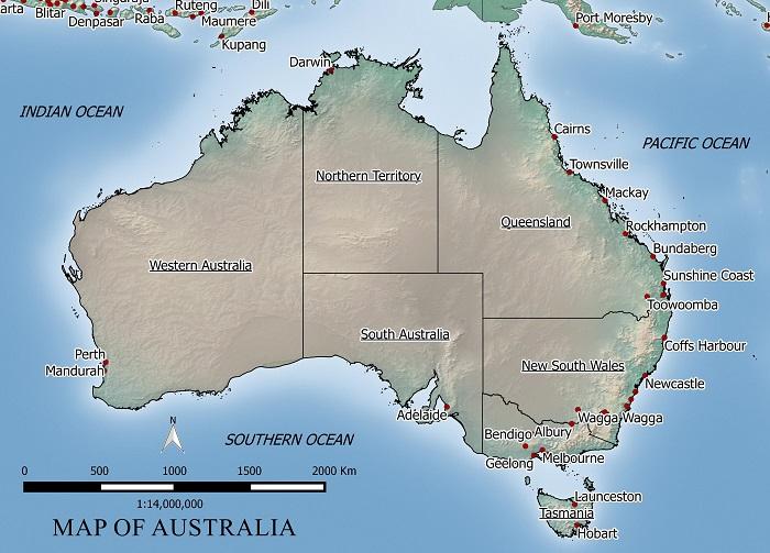 FREE MAP OF AUSTRALIA